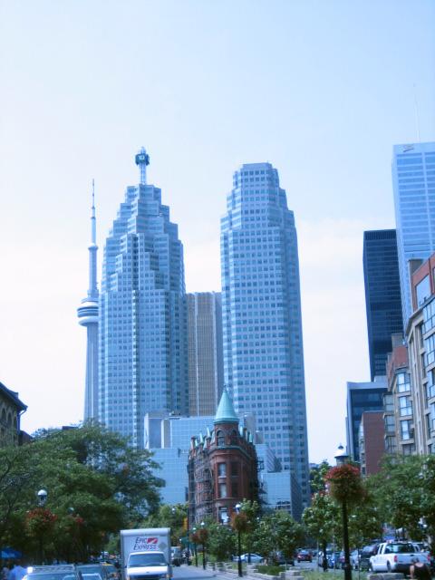 Bank Buildings With Toronto's Flatiron Building